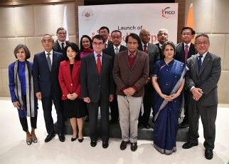 Foreign Minister Kono participates in Launching Event of the India-Japan Friendship Forum3