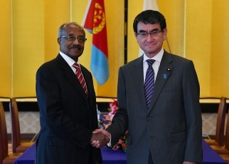 Japan-Eritrea Foreign Ministers' Meeting and Working Lunch 2