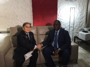 Visit of Hon. Kitamura, Special Envoy of the Prime Minister and Member of the House of Representatives to the Republic of Senegal