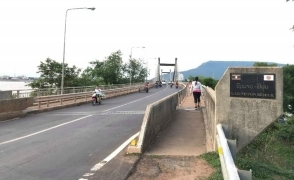 (photo4) Lao-Nippon Bridge at present, which was constructed by Japan's ODA