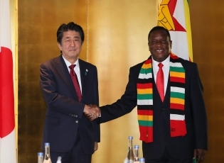 (photo1)Japan-Zimbabwe Summit Meeting