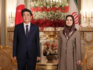 (Photo2) Courtesy Call on Prime Minister Shinzo Abe by Joneydi of Vice-President for Legal Affairs of Iran 2