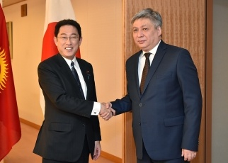 Japan-Kyrgyz Foreign Ministers' Meeting 1