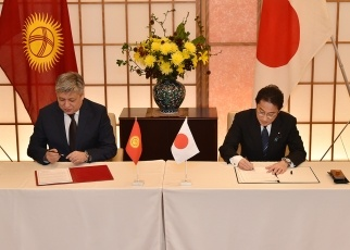 Japan-Kyrgyz Foreign Ministers' Meeting 3