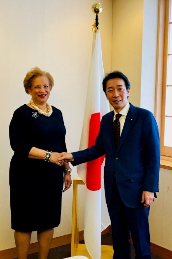(Photo)Parliamentary Vice-Minister for Foreign Affairs Nakayama received a courtesy call by Ms. Catherine Pollard, United Nations Under-Secretary-General for Management Strategy,Policy and Compliance.