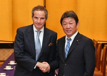 Foreign Minister Motegi Toshimitsu Meets with the Director General of the International Atomic Energy Agency 1