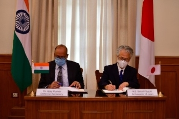 Signing of the Agreement Between the Government of Japan and the Government of the Republic of India Concerning Reciprocal Provision of Supplies and Services Between the Self-Defense Forces of Japan and the Indian Armed Forces 1