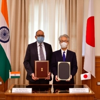 Signing of the Agreement Between the Government of Japan and the Government of the Republic of India Concerning Reciprocal Provision of Supplies and Services Between the Self-Defense Forces of Japan and the Indian Armed Forces 2