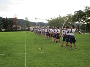 (photo 3) Remote friendly match of Archery in Tsuruoka City