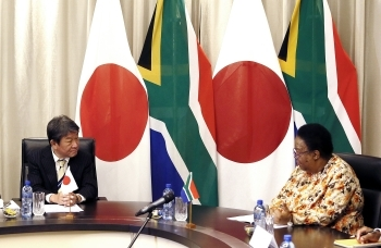 Japan-South Africa Foreign Ministers' Meeting and Working Lunch and Telephone Talk with President Ramaphosa(Meeting)