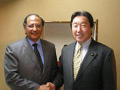 外務省: 宇野外務大臣政務官とターリク・アジーム・カーン・パキスタン ...