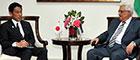 アッバース・パレスチナ大統領表敬