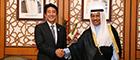 ジャービル・クウェート首相との会談