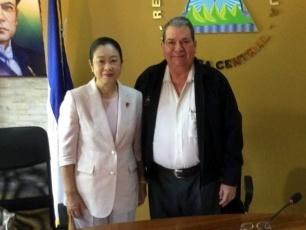 土屋特派大使のニカラグア大統領...
