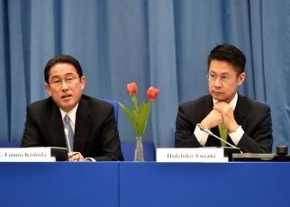 (写真12)広島県が開催したサイドイベントで発言する岸田外務大臣