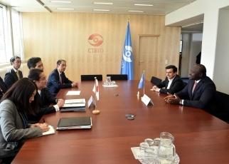 (写真15)ゼルボ包括的核実験禁止条約機関(CTBTO)準備委員会暫定技術事務局長による岸田外務大臣表敬