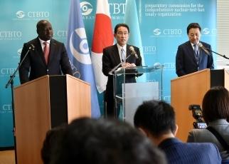 (写真16)CTBTに関する共同発表の様子