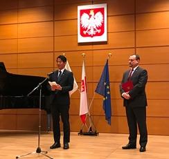 (写真1)山田外務大臣政務官の「ポーランド独立回復100周年・軍隊記念日レセプション」出席の様子