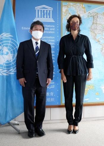 茂木外務大臣とアズレー・ユネスコ事務局長との会談|外務省