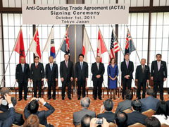 (photo) Signing Ceremony of the Anti-Counterfeiting Trade Agreement (ACTA)