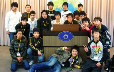 小中高生の外務省訪問(平成23年12月27日)