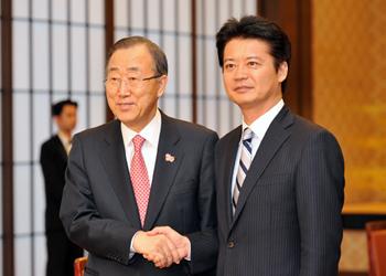 (写真)潘基文国連事務総長の来日(平成24年7月7日〜9日)