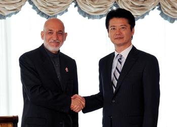 (写真)カルザイ・アフガニスタン大統領の来日(平成24年7月7日〜10日)