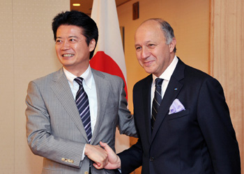 (写真)ローラン・ファビウス・フランス外務大臣の来日(平成24年7月7日〜9日)