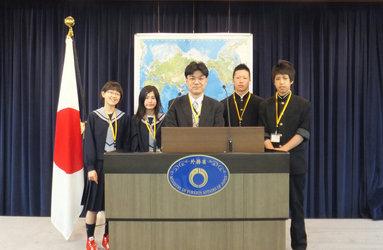 小中高生の外務省訪問宮城県(富谷町)町立富谷第二中学校の皆さん