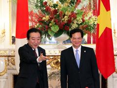 (写真)日・ベトナム首脳会談-1
