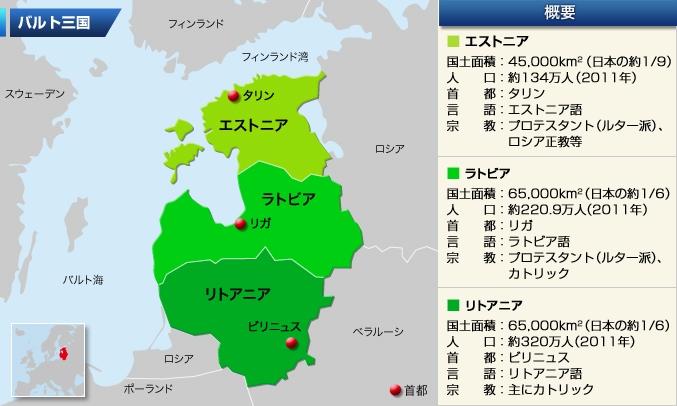 バルト三国 : 世界の国 地図 : すべての講義