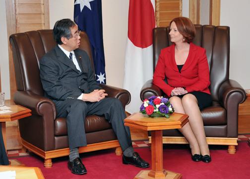外務省: 松本外務大臣によるギラード豪州首相表敬(概要)