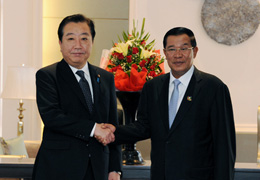 (Photo)Japan-Cambodia Summit Meeting (Overview) 1