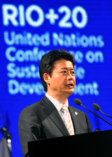 (Photo)Speech by Foreign Minister Koichiro Gemba United Nations Conference on Sustainable Development (Rio + 20)-2