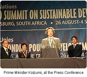 The World Summit on Sustainable Development, Johannesburg – 2002