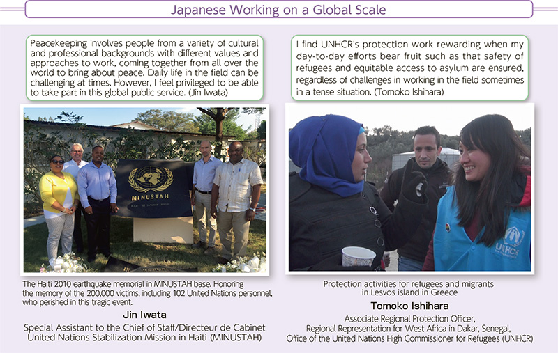 2 Japanese Taking Active Roles in the International Community