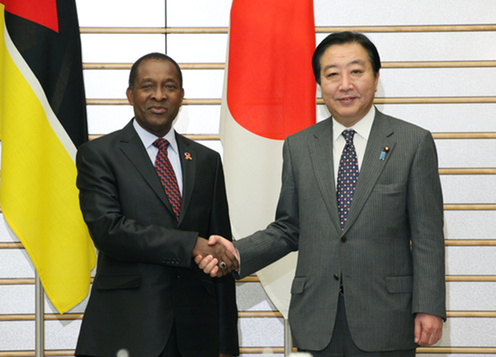(Photo)Japan-Mozambique Summit Meeting-1