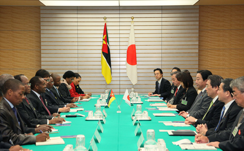 (Photo)Japan-Mozambique Summit Meeting-2