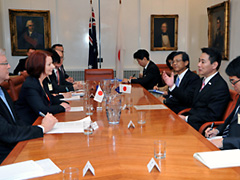 (photo)Visit to Australia by Minister for Foreign Affairs of Japan-2