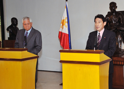 (Photo) Japan-Philippines Foreign Ministers' Meeting and Working Lunch (1)