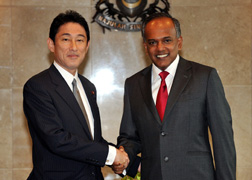 (Photo) Japan-Singapore Foreign Ministers' Meeting and Luncheon (1)