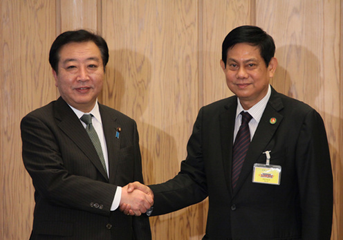 (Photo)Courtesy Call on Prime Minister Yoshihiko Noda by Mr. Htay Oo, General Secretary , Union Solidarity and Development Party, Republic of the Union of Myanmar-1