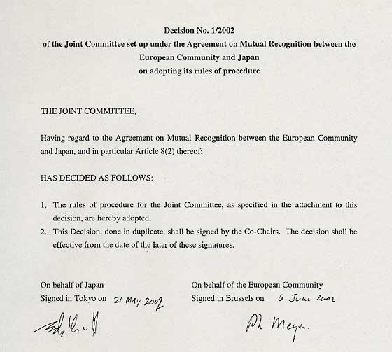 Mofa Decision No 12002 Of The Joint Committee Set Up Under The