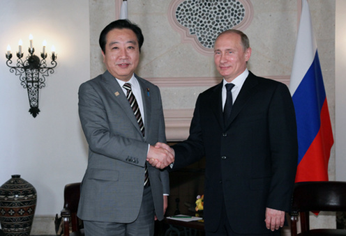 (Photo)Japan-Russia Summit Meeting at the G20 Los Cabos Summit (Overview)-1