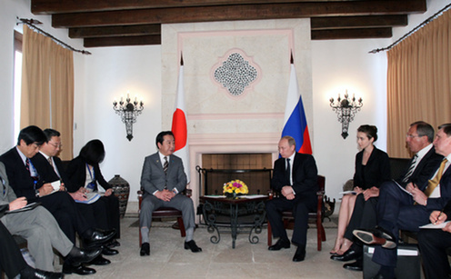 (Photo)Japan-Russia Summit Meeting at the G20 Los Cabos Summit (Overview)-2