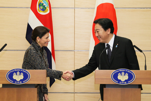 (Photo)Meeting between Prime Minister Yoshihiko Noda and H.E. Mrs. Laura Chinchilla Miranda, President of the Republic of Costa Rica-3