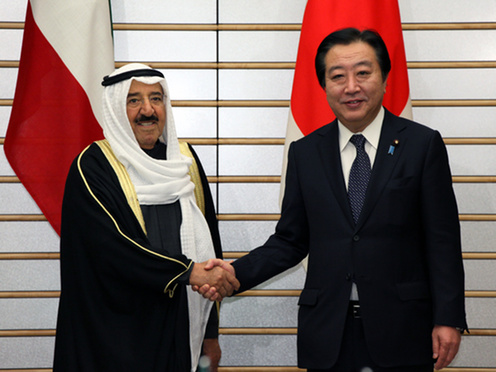(Photo)Meeting between Prime Minister Yoshihiko Noda and H.H. Sheikh Sabah Al-Ahmad Al-Jaber Al-Sabah, Amir of the State of Kuwait-1