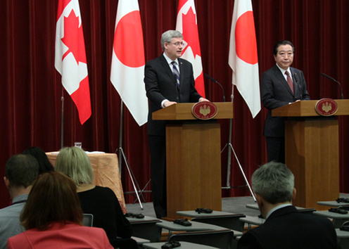 (Photo)Japan-Canada Summit Meeting (Summary)