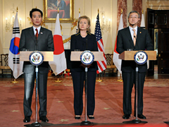 U.S. President Barack Obama, Japanese Prime Minister Naoto Kan